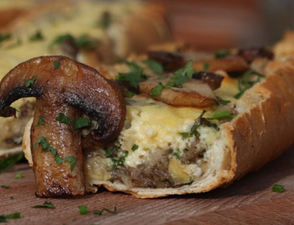 Melegszendvics – gombás illetve húsos – kenyérrevalók
