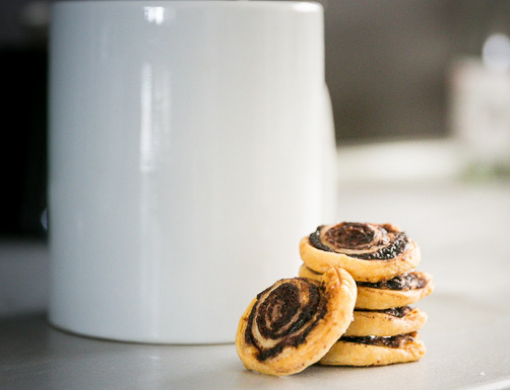 Villámgyors mini kakaós csiga leveles tésztából
