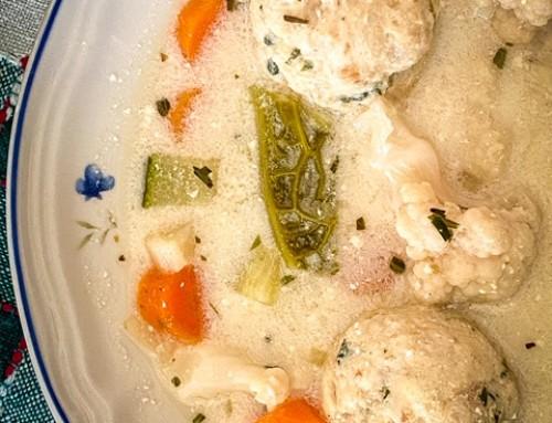 Tavaszi tárkonyos csirkeragu leves újragondolva – tejmentesen is!